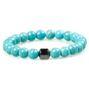 Magnetische armband turquoise howliet